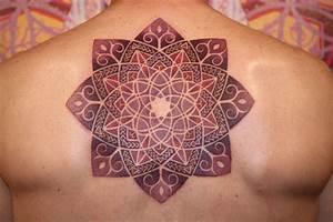 Mandala tattoo on back, based on fibonacci flower. Tattoo ...