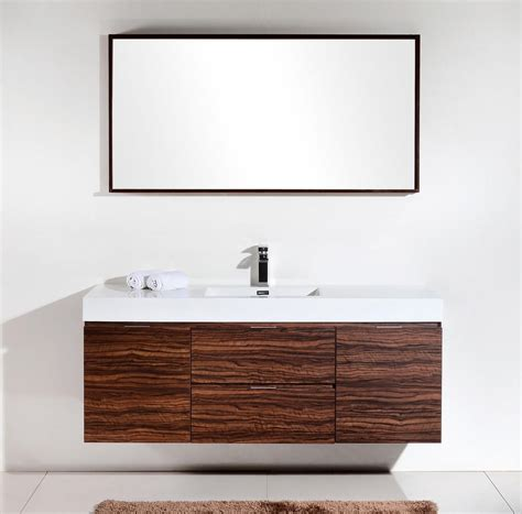 Modern Bathroom Accessories Canada by Bliss 60 Quot Kubebath Walnut Wall Mount Modern Bathroom