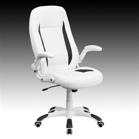 new soft white leather highback home office desk task