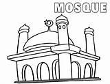 Mosque sketch template