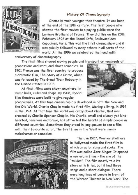world history worksheets elementary history of cinema worksheet free esl printable