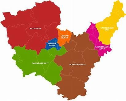 Lisburn Castlereagh Council Areas East District West