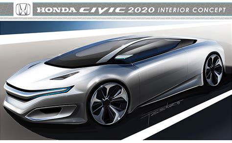 Honda Civic 2020 Concept by Honda Civic 2020 Interior Concept On Behance