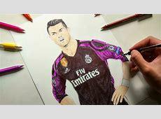 Cristiano Ronaldo Pen Drawing Real Madrid YouTube