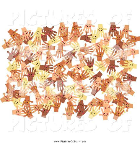 Diverse Background Clipart Of A Solid White Background Of Diverse And Happy