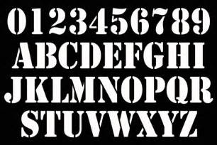 Stencil Number Font