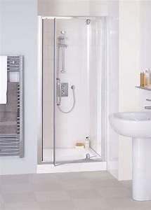 Lakes Semi Framless 700mm Pivot Shower Door Silver Frame