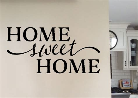 Home Sweet Home Version 1 Vinyl Wall Art, Wall Decal Quote