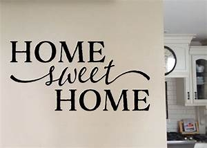 Home Sweat Home : home sweet home version 1 vinyl wall art wall decal quote ~ Markanthonyermac.com Haus und Dekorationen