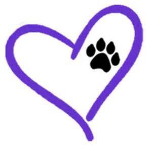 Cat Paw Print Heart