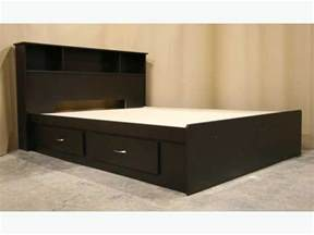new espresso dark brown king size captains bed frame headboard richmond vancouver