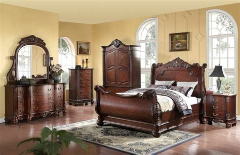 Bedroom Furniture Sets Armoire by Regal 6 Pc Cherry Bedroom Set Armoire Mirror