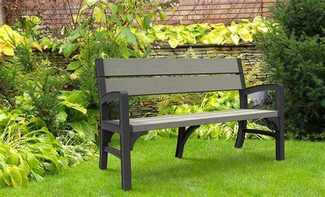 panchina in legno da giardino panchina da giardino in resina keter montero finitura