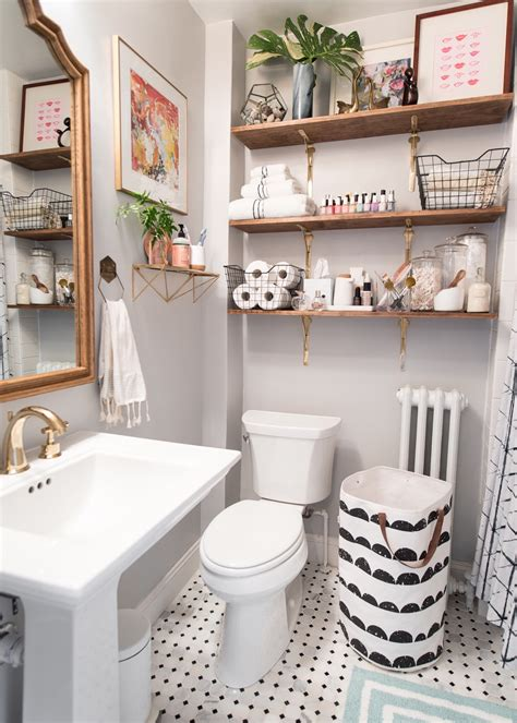 inspired classic small bathroom
