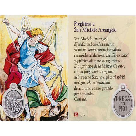 Casa Di Preghiera San Michele by Santino San Michele Plastificato Con Preghiera Vendita