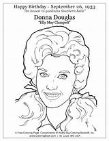 Donna Douglas Coloring Elly Clampett Pages Belle Southern Birthday Happy sketch template