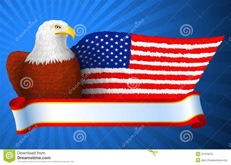 American Eagle Flag Wing stock vector. Illustration of ...
