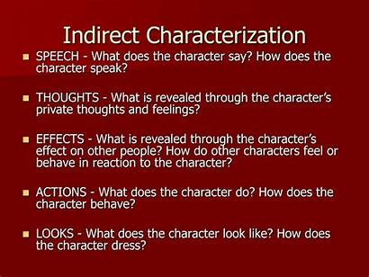 Indirect Characterization Direct Character Speech Thoughts Presentation