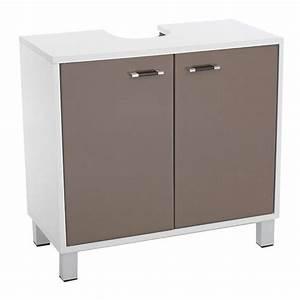 Meuble Dessous De Lavabo : meuble dessous lavabo dinamo taupe dessous lavabo eminza ~ Melissatoandfro.com Idées de Décoration