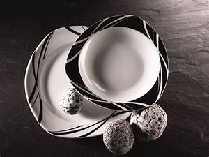 Tafelservice Modernes Design : domestic 920667 madonna porzellan tafelservice 12 teilig mit je 6 teller tief und flach amazon ~ Sanjose-hotels-ca.com Haus und Dekorationen