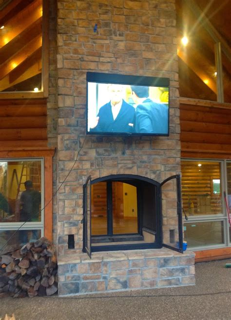 Custom See Through Outdoor Indoor Wood Burning Fireplace