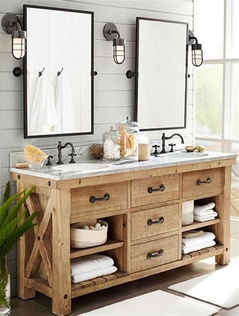 farmhouse sinks for 33 stunning rustic bathroom vanity ideas remodeling expense