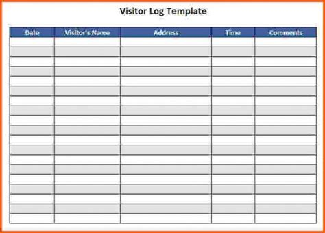 visitor log template visitor log template cooperative sign in sheet with contact information helendearest