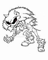 Sonic Monster Creepy Coloring Printable Pages Exe Hedgehog Sheets Adults Categories sketch template