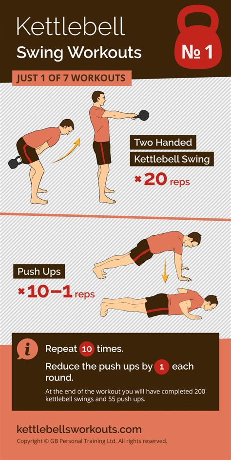 kettlebell swing push workout ups workouts pair double perfect minutes under repeat handed reps etc times