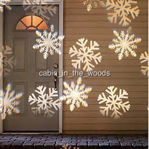 panoramic outdoor snowflake christmas light projector 10 holiday slides new ebay