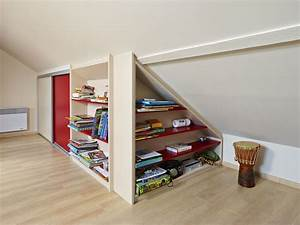 Placard Sous Rampant : placard sous rampant sur mesure atelier madec nantes 44 ~ Melissatoandfro.com Idées de Décoration