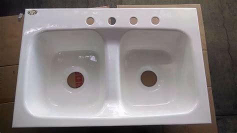 vintage  hole eljer double bowl porcelain cast iron