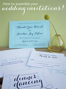 how to assemble wedding invitations gallery wedding With how to assemble wedding invitations minted