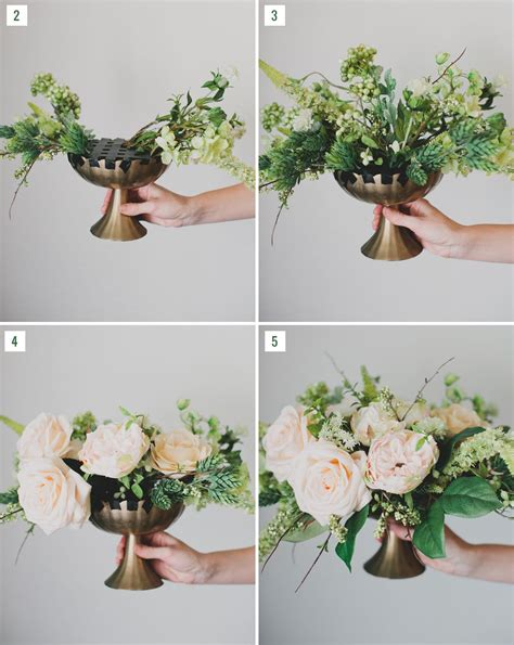 Diy Silk Flower Centerpiece Diy Wedding Pinterest