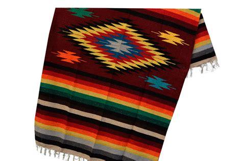 Eeezz0dgburgundy  Mexikanische Indianer Decke