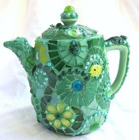 Frances Green  Green Mosaic Teapot