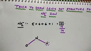 Trick To Draw Lewis Dot Structure For No2- Ion