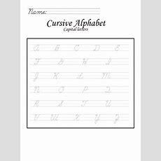 Capital Letters In Cursive Worksheet