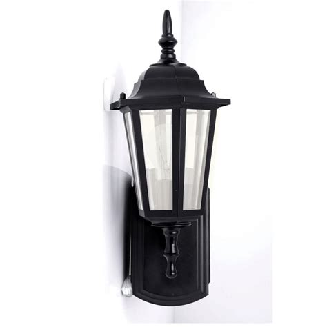 hton bay coach style exterior wall lantern w built in