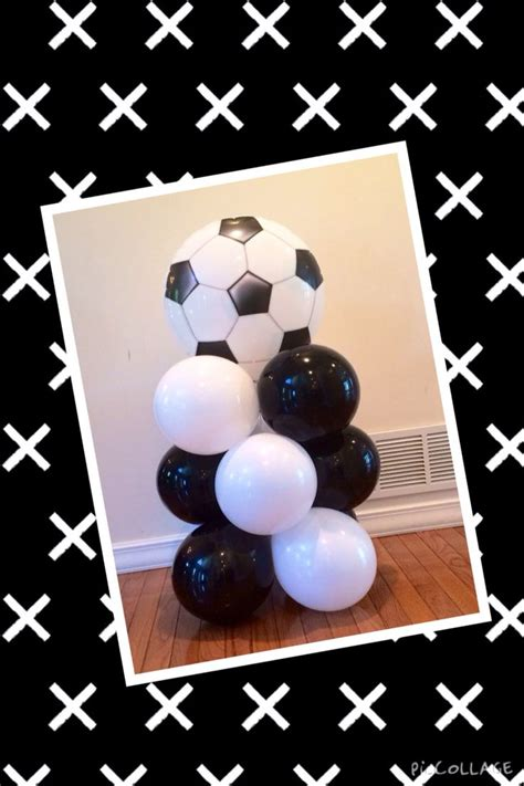 soccer baby shower soccer balloon mini column balloonatics llc creations