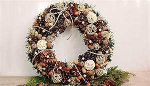 Faire Une Couronne De Noel : couronne de no l en noix bricolage de no l ~ Preciouscoupons.com Idées de Décoration