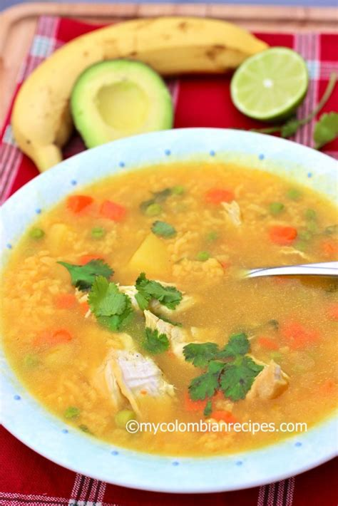 comforting chicken soups  colombian recipes