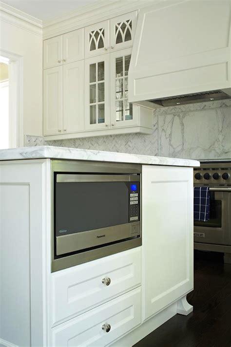 Kitchen Island Microwave Nook  Transitional  Kitchen