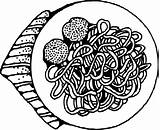 Spaghetti Meatballs Clip Pasta Clker Svg Clipart Vector sketch template