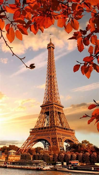 Eiffel Tower 4k Autumn Paris Sunset Wallpapers