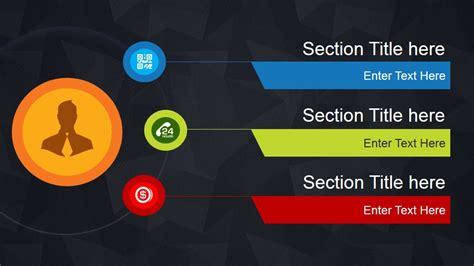 dark agenda  design  powerpoint slidemodel