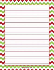 printable christmas chevron stationery With christmas letter writing paper