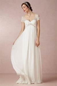 25 airy and romantic empire waist wedding dresses for Empire style wedding dress