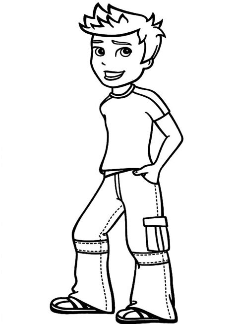 boy colors free printable boy coloring pages for