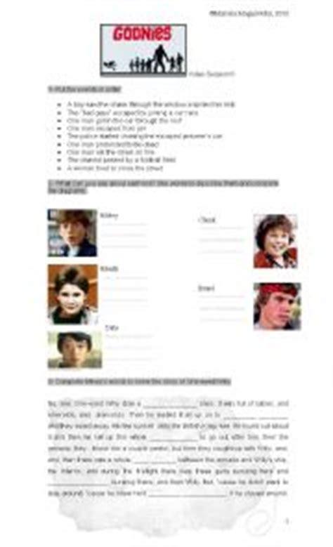 the goonies worksheet worksheets
